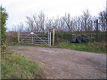 ST8273 : Public footpath, private road. by Phil Williams