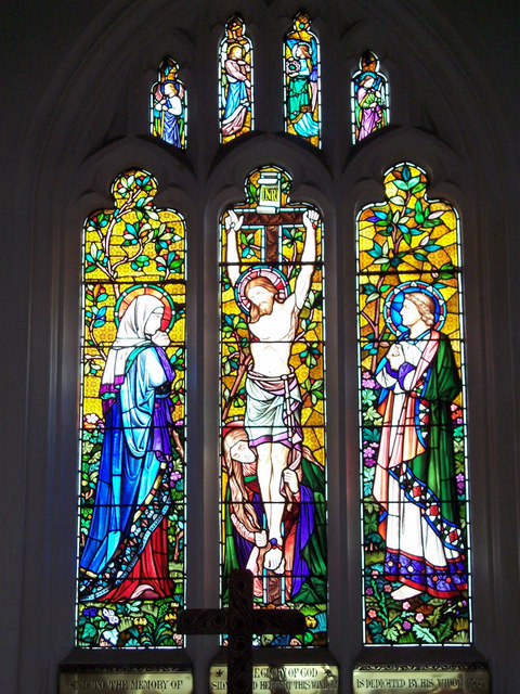 Stained glass window at St Nicholas Church