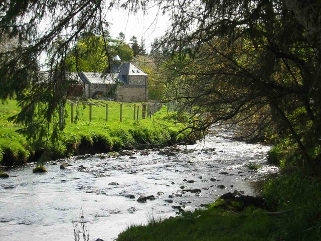 The Stream as it flows down to the River Deveron