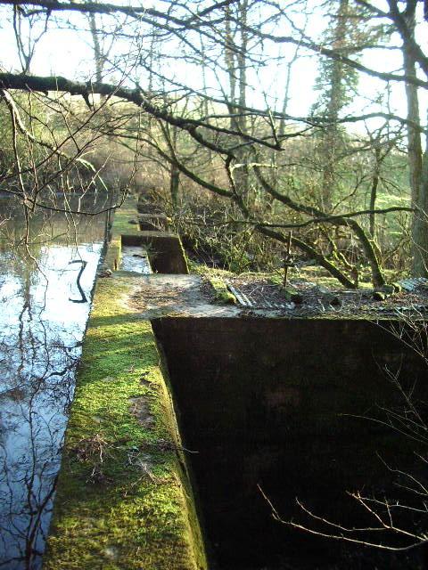 Old dam and sluice on Skinners Syke