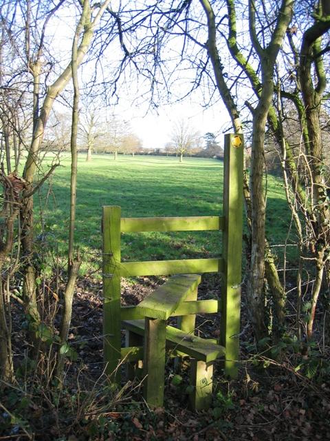 Stile behind Lea Newbold Farm