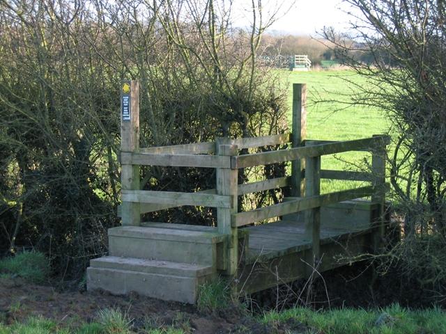 Bridge Stile over Drainage Ditch