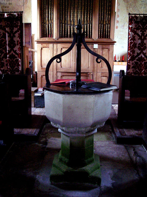 Font at St Cosmos and St Damian Church