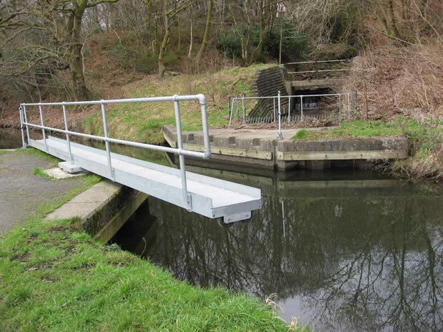 Swing bridge  over canal.