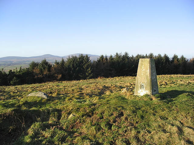 The trig point on Chattonpark Hill