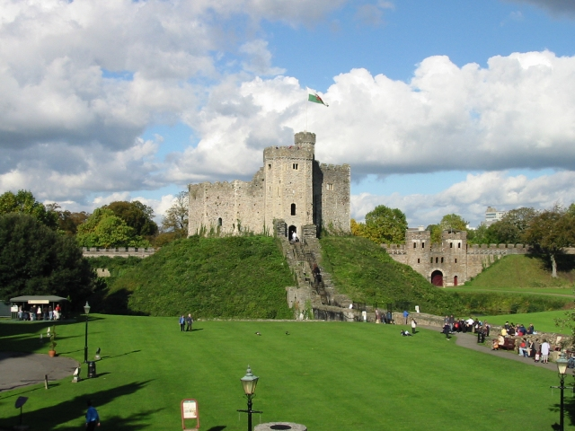 The grounds and Keep, Cardiff Castle.
