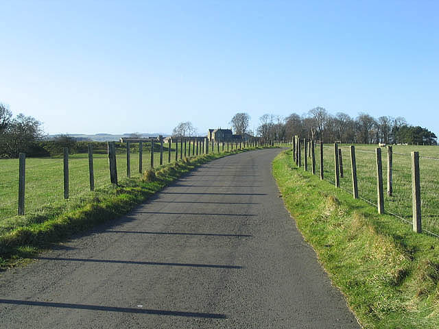 The road to Pasturehill Farm