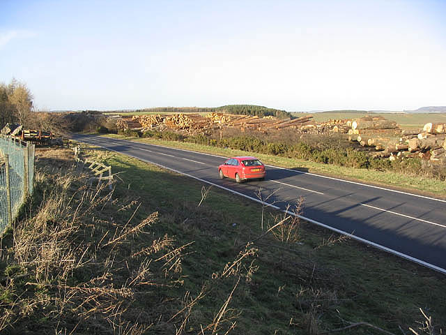The A697 near Wooperton