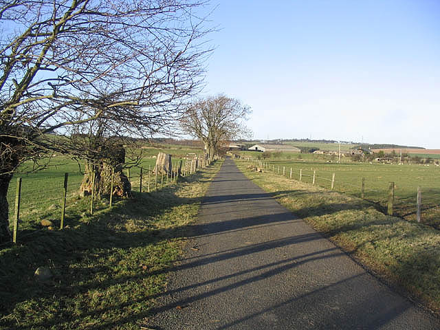 Looking up the road to Reaveley