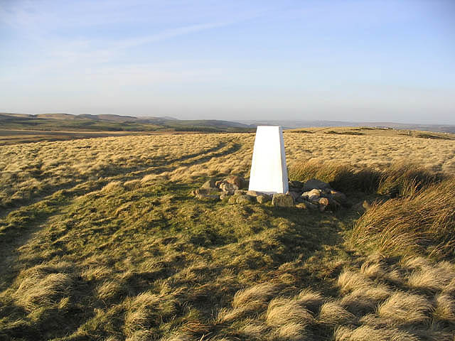 The trig point on Heddon Hill