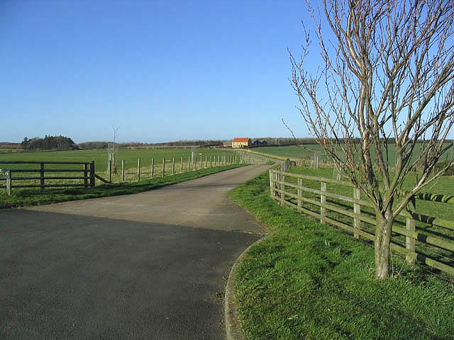 The road to Gallowmoor Farm