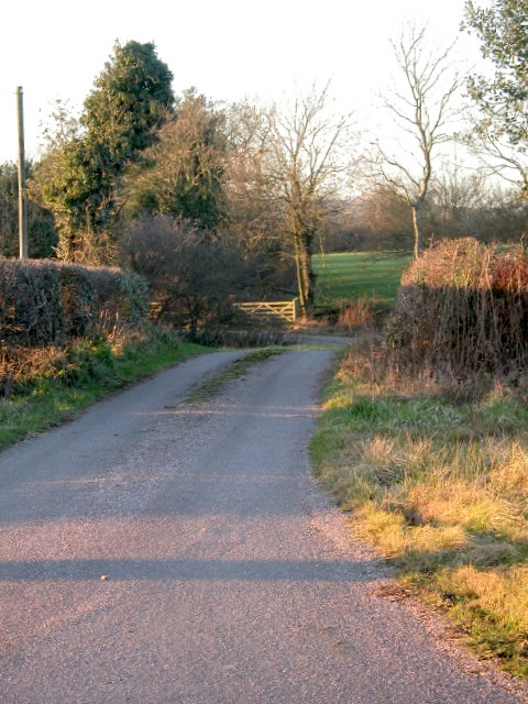 The lane to Herdsmans Close Farm