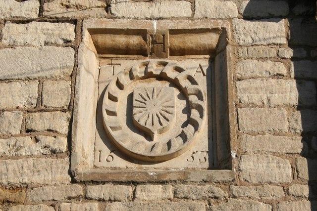 Farish Almshouses date stone