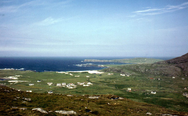 Borve and its adjoining coastline from Beinn na Moine