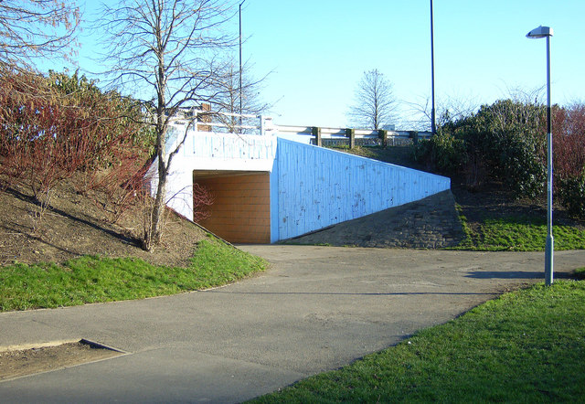 Pedestrian subway at Bradgate A6109/A629 Junction