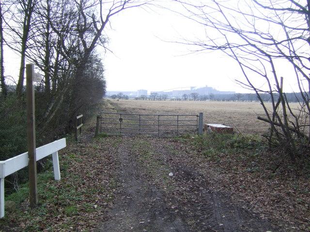 Bridleway by Mendle Farm