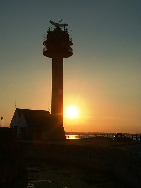 Sunset at Calshot Coastguard Station