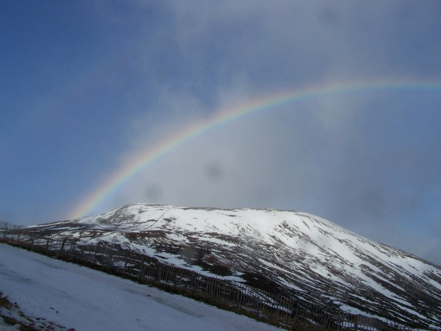 Rainbow over Cairn Aosda
