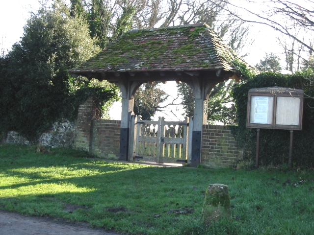 The lych gate for Northbourne Church