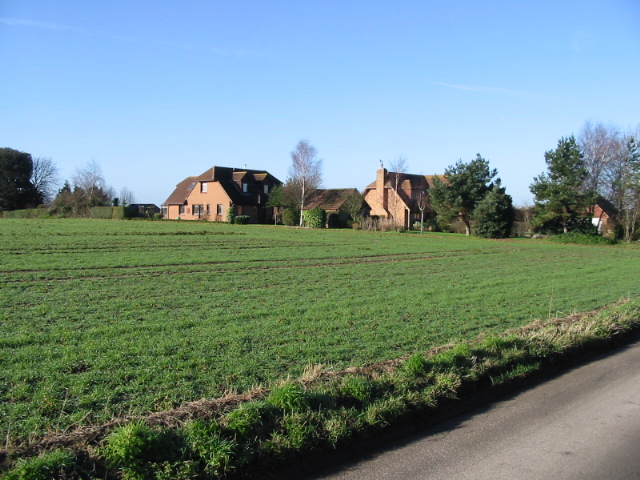 Field and houses on Northbourne Road