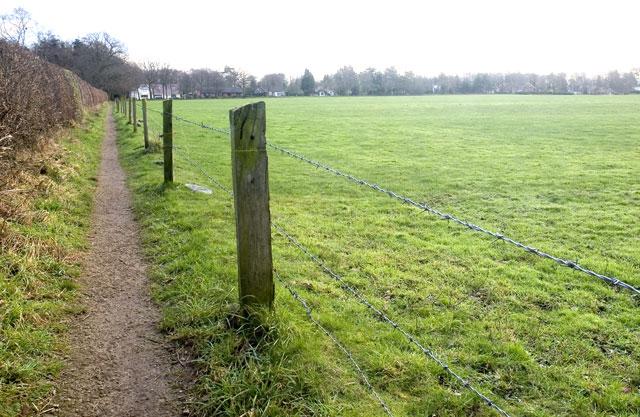 Footpath towards Goostrey