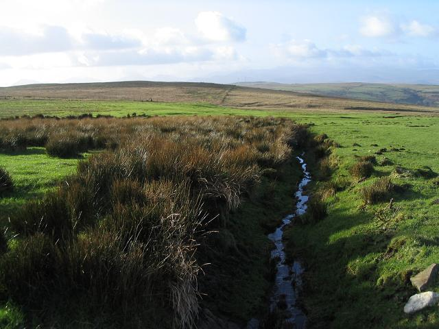 Drainage channel on Denbigh Moors