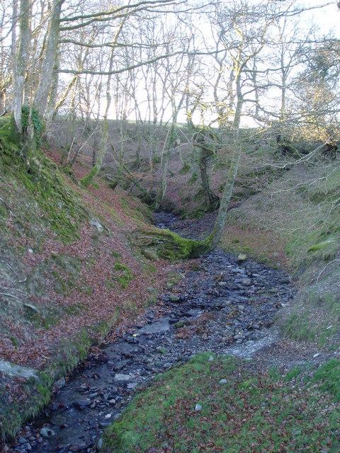 Stream bed near Llanycil.