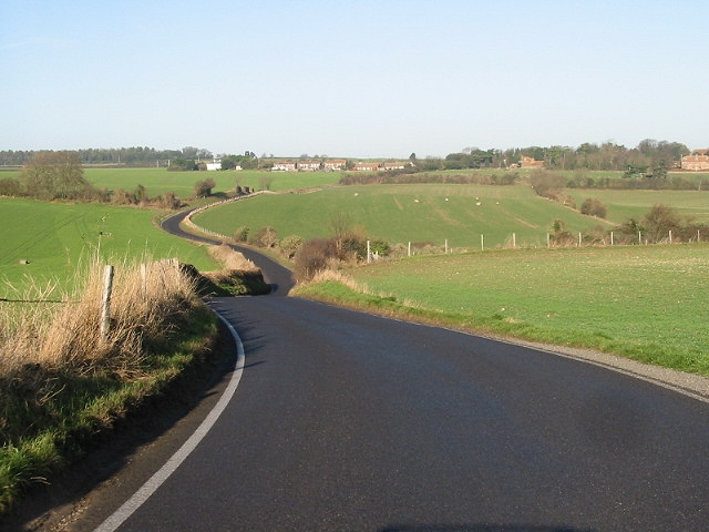 Looking NW along Deal road towards Northbourne