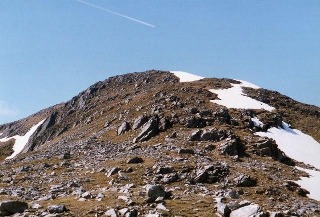 View back towards Ben Challuim summit