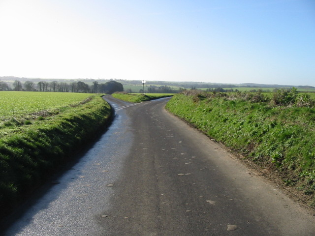 View looking SW along lane