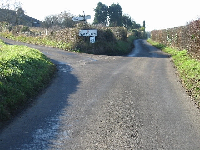 Road junction at East Studdal