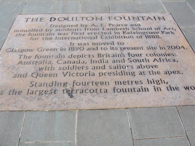 Doulton Fountain, Glasgow Green