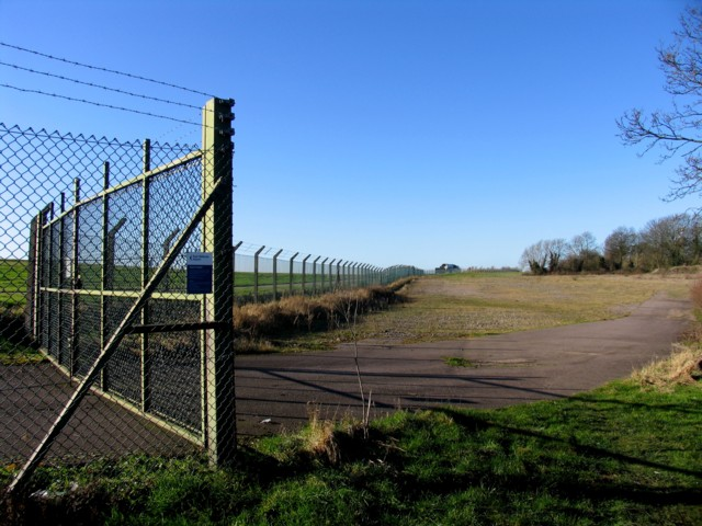 Perimeter fence and concreted area