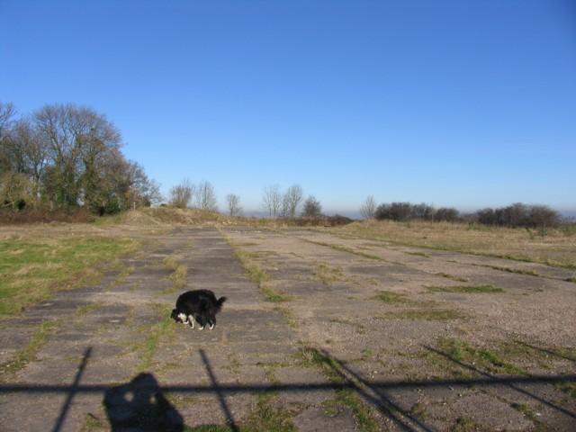 Concrete area adjacent to East Midlands Airport