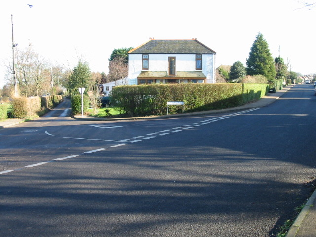 House at junction of Downs Road and Stoneheap Road