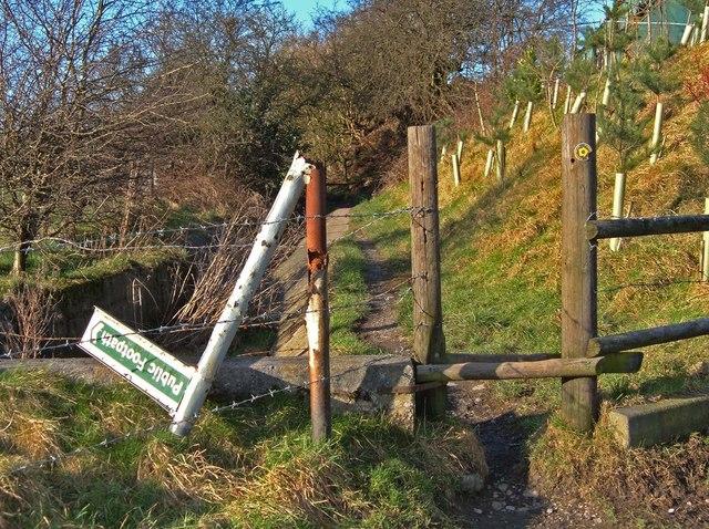 Broken Footpath Signpost