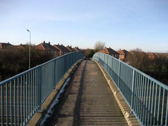 Footbridge over the A19