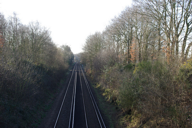 Railway near Wrotham Heath