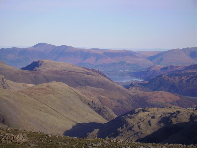 Keswick from Scafell Pike