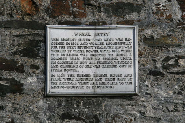 Plaque on Wheal Betsy