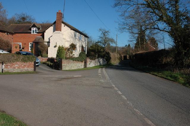 Road junction in Sollers Dilwyn