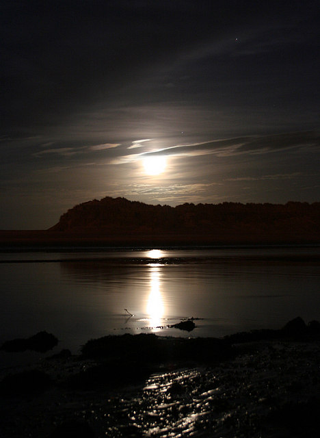 Moonlight on the Lossie.