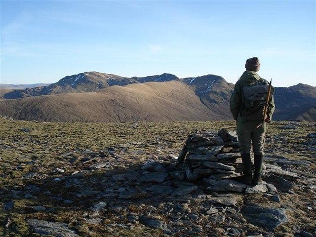 Summit of Beinn nan Oighreag