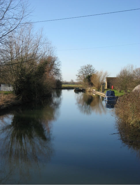 View west from Rushey Lock, River Thames, Oxfordshire