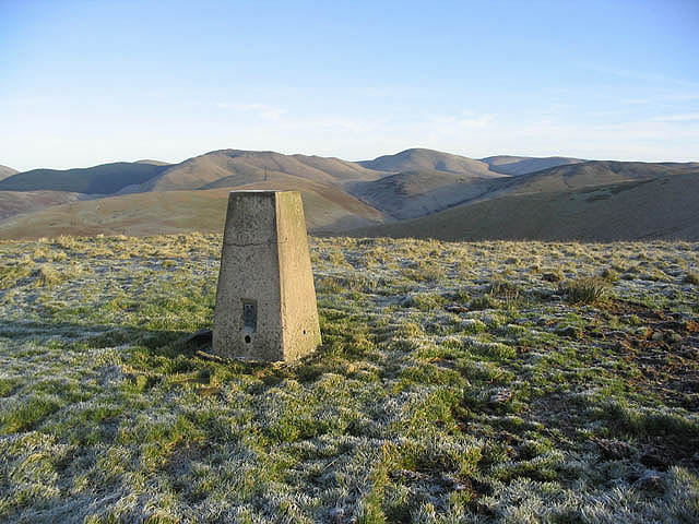 The trig point on White Hill