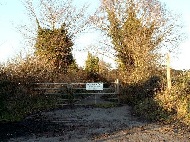 Bridleway just west of Woodbridge