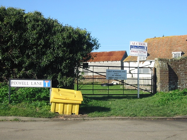 Great Mongeham Farm at junction of Pixwell and Cherry Lanes