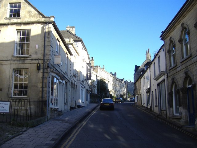 Looking up Silver Street