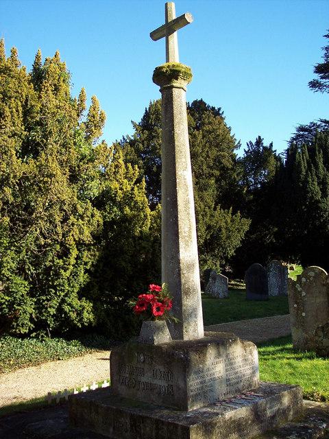 War Memorial at St Marys Church, Shrewton