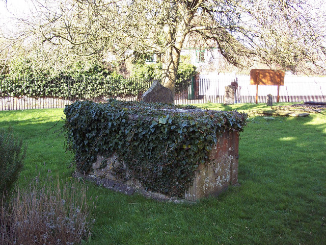Ivy covered tomb in St Marys Churchyard, Shrewton